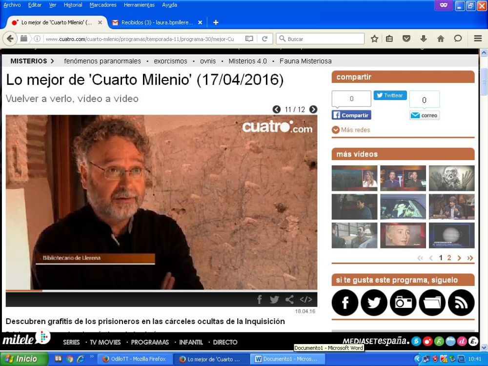 CUARTO MILENIO EMITE UN REPORTAJE SOBRE LOS DIBUJOS DE LA CASA ...